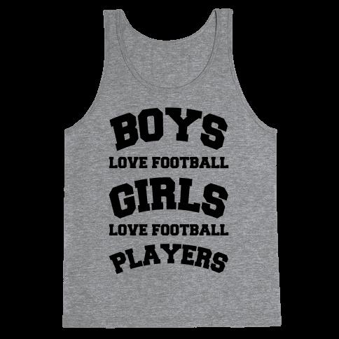 Boys and Girls Love Football Tank Top