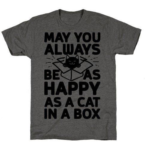 May You Always Be As Happy As A Cat In A Box T-Shirt