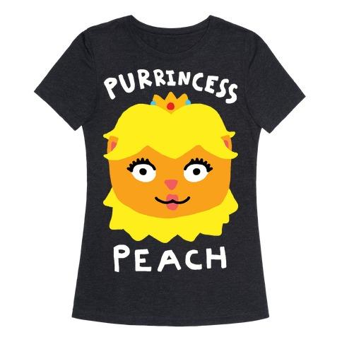Purrincess Peach Womens T-Shirt