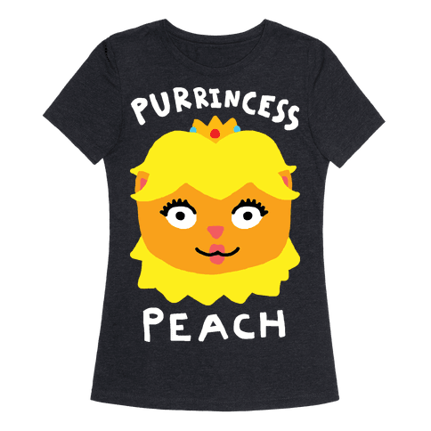 Purrincess Peach Womens T-Shirt