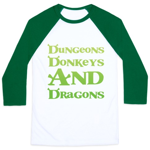 Dungeons, Donkeys and Dragons Baseball Tee