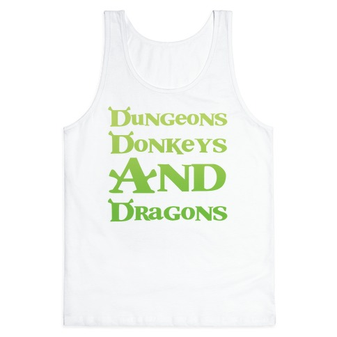 Dungeons, Donkeys and Dragons Tank Top