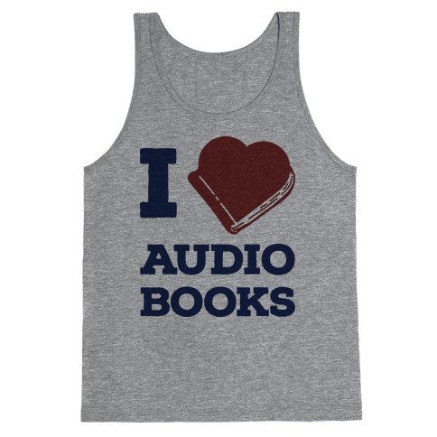 I Love Audio Books Tank Top