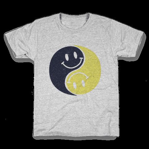 Smiley Yin Yang Kids T-Shirt