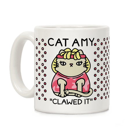 Cat Amy Clawed It Coffee Mug