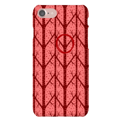 Red Tree Pattern Phone Case