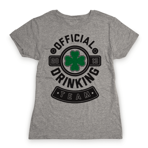 Official Drinking Team Womens T-Shirt