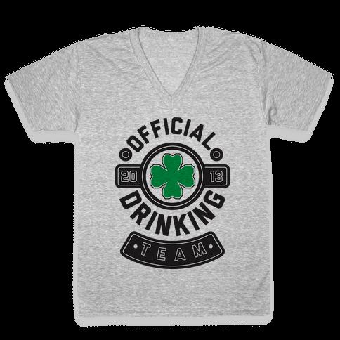 Official Drinking Team V-Neck Tee Shirt