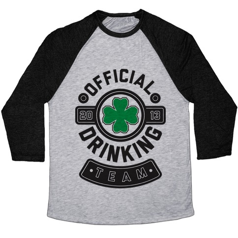 Official Drinking Team Baseball Tee