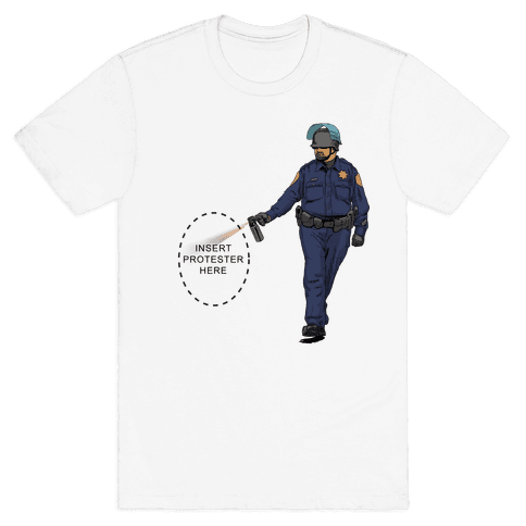 Insert Protester Pepper Spray Mens T-Shirt