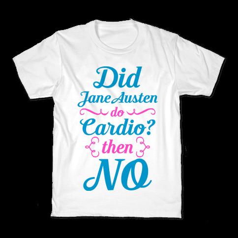 Jane Austen Cardio Kids T-Shirt