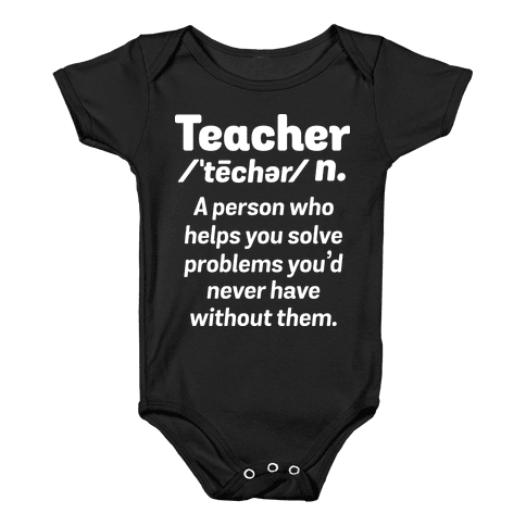 Teacher Definition Baby Onesy