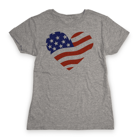 American Flag Womens T-Shirt