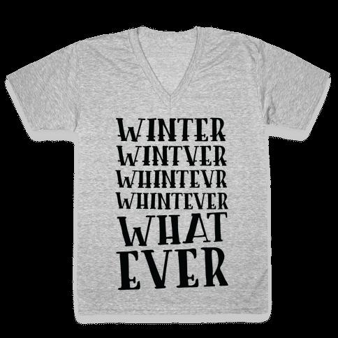 Whatever Winter V-Neck Tee Shirt