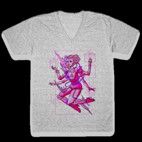 Cosmic Goddess V-Neck Tee Shirt