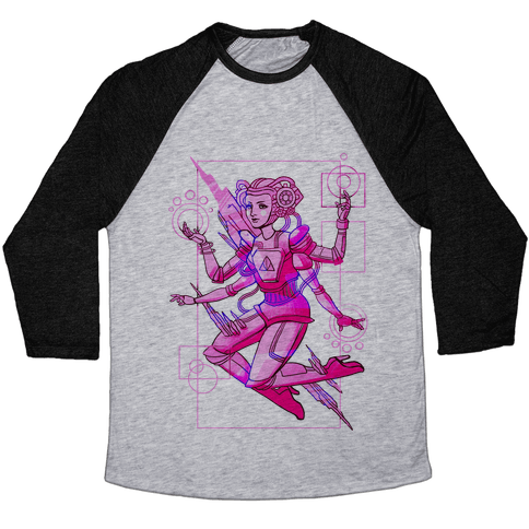 Cosmic Goddess Baseball Tee
