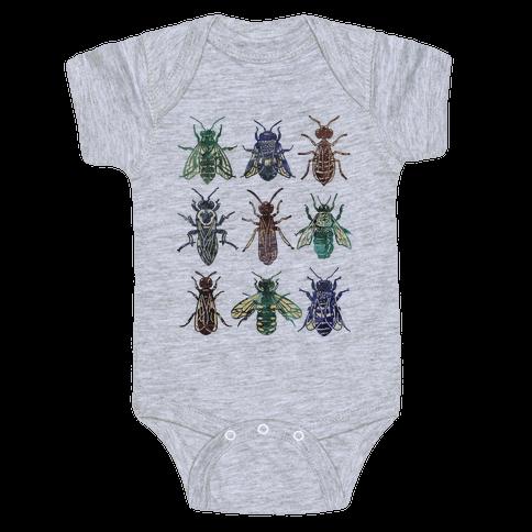 Bee Species Baby Onesy