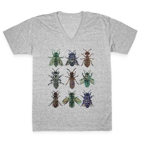 Bee Species V-Neck Tee Shirt