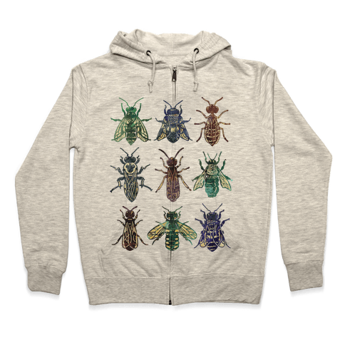 Bee Species Zip Hoodie