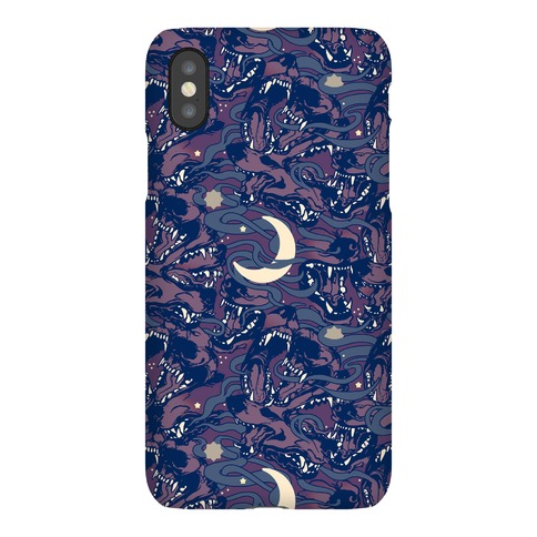 Occult Werewolf Moon Pattern Phone Case