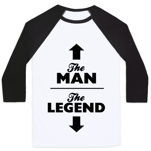 The Man, The Legend Baseball Tee
