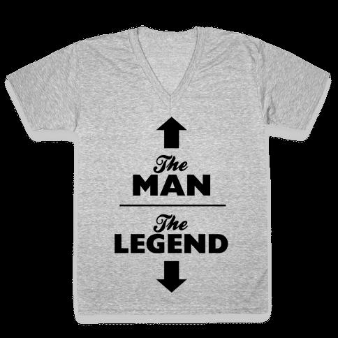 The Man, The Legend V-Neck Tee Shirt