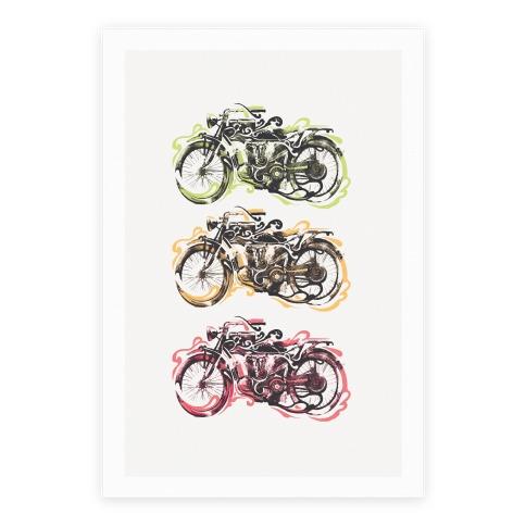 Vintage Motorbike Poster
