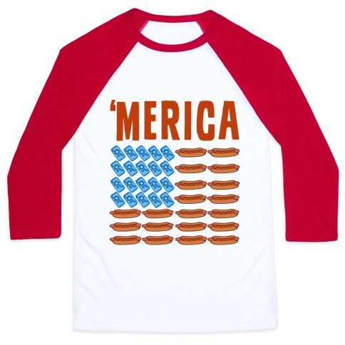 Beer, Hotdogs & 'Merica Baseball Tee