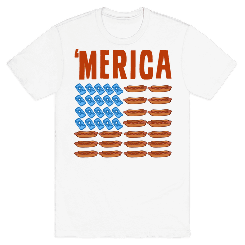 Beer, Hotdogs & 'Merica Mens T-Shirt
