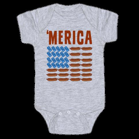 Beer, Hotdogs & 'Merica Baby Onesy