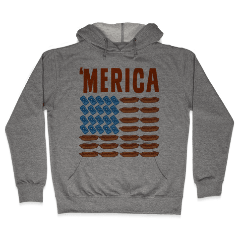 Beer, Hotdogs & 'Merica Hooded Sweatshirt