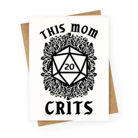 This Mom Crits D20 Greeting Card