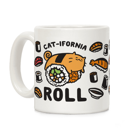 California Cat Roll Coffee Mug