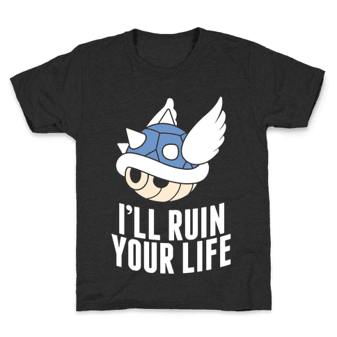 Blue Shell Will Ruin Your Life Kids T-Shirt