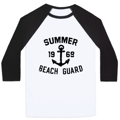 Summer Beach Guard Baseball Tee