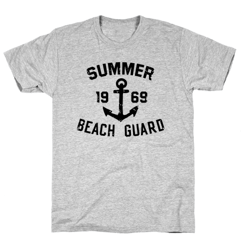 Summer Beach Guard Mens T-Shirt