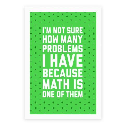 Math Problems Poster