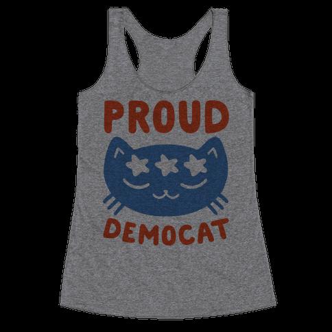 Proud Democat Racerback Tank Top