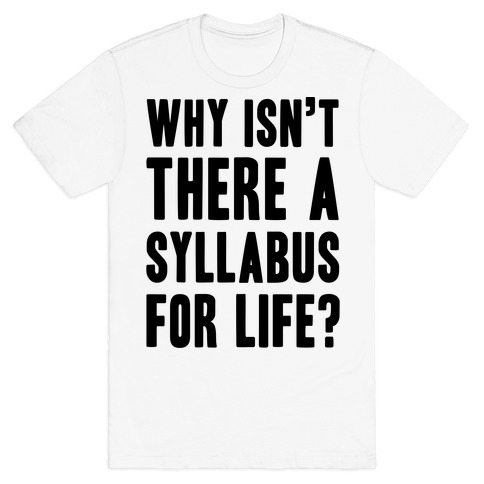 Why Isn't There A Syllabus For Life T-Shirt