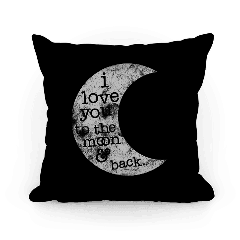 I Love You To The Moon Pillow