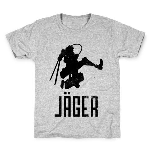 Eren Jaeger Silhouette (Vintage) Kids T-Shirt