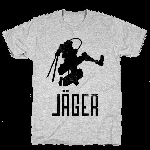 Eren Jaeger Silhouette (Vintage) Mens T-Shirt