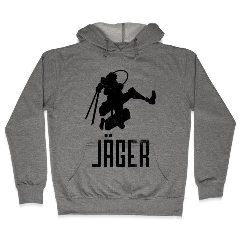 Eren Jaeger Silhouette (Vintage) Hooded Sweatshirt