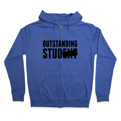 Outstanding Stud Zip Hoodie