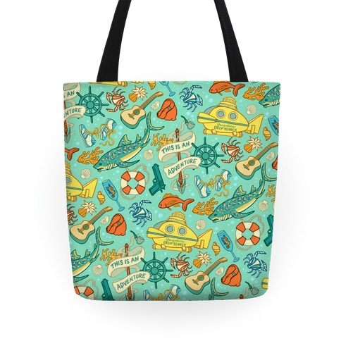 Life Aquatic Nautical Pattern Tote
