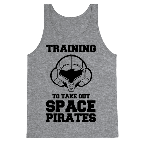 Training To Take Out Space Pirates Tank Top