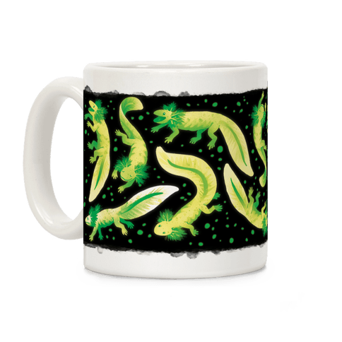 Green Fluorescent Axolotls Coffee Mug