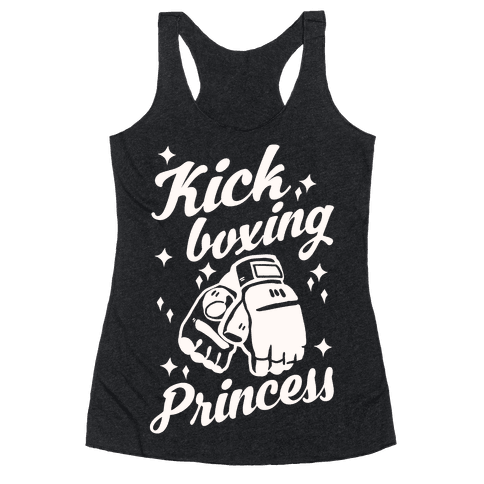 Kickboxing Princess Racerback Tank Top