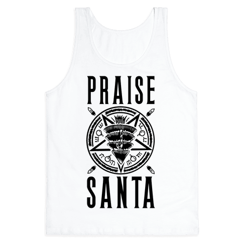 Praise Santa Tank Top