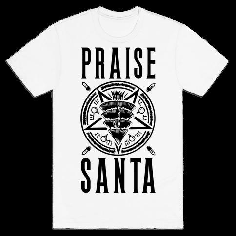 Praise Santa Mens T-Shirt